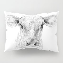 Moo ::  A Young Jersey Cow Pillow Sham
