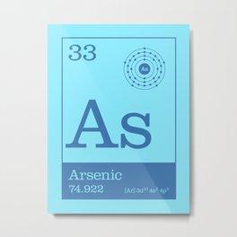 Periodic Elements - 33 Arsenic (As) Metal Print