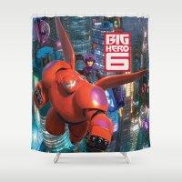 big hero 6 Shower Curtains featuring Big Hero 6  by store2u