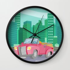 CAR (GROUND VEHICLES) Wall Clock