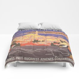 Vintage poster - Europe Comforters