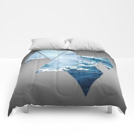 Fragmented Clouds Comforters