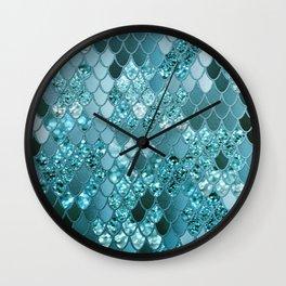 Mermaid Glitter Scales #4 #shiny #decor #art #society6 Wall Clock