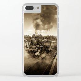 Nostalgic Journey Clear iPhone Case