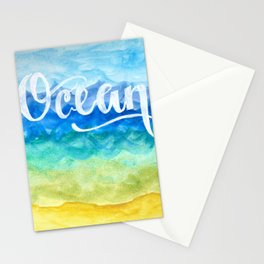 Ocean Side Stationery Cards