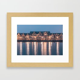 Architecture at night Framed Art Print