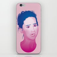 jennifer lawrence iPhone & iPod Skins featuring Funny face: Jennifer Lawrence by Esther Cerga