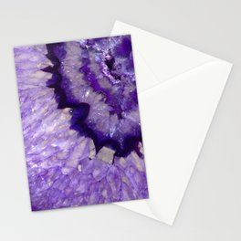 Purple Crystal Stationery Cards