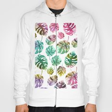 Colorful tropical leaves Hoody
