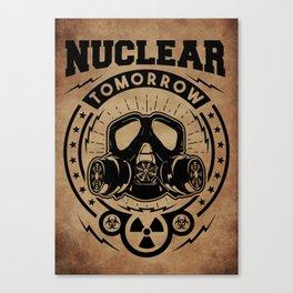 Nuclear Tomorrow vintage Canvas Print