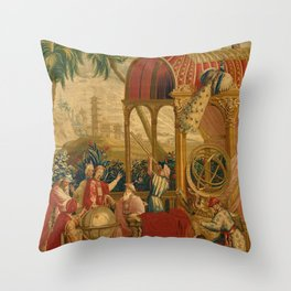 Beijing Observatory Chinoiserie Throw Pillow