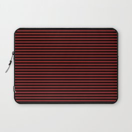 Black and Red Thin Stripes Laptop Sleeve
