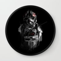 pilot Wall Clocks featuring Pilot 02 by Rafal Rola