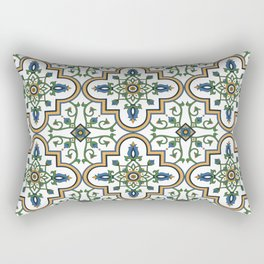 Spanish Tile Pattern – Andalusian ceramic from Seville Rectangular Pillow