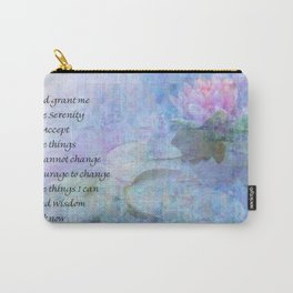 Serenity Prayer Water Lily Wonders Carry-All Pouch