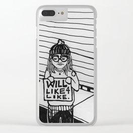 Will Like 4 Like Clear iPhone Case