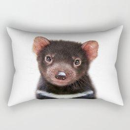 Baby Tasmanian Devil, Baby Animals Art Print By Synplus Rectangular Pillow