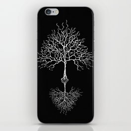 Tree of life meaning black iPhone Skin