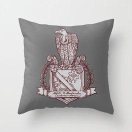 Nolite Te Bastardes Carborundorum_Burgandy Crest Throw Pillow
