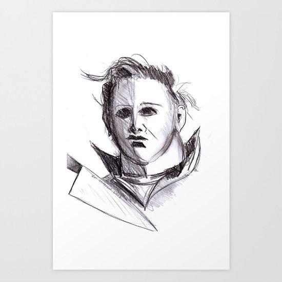 Micheal Myers  Art Print