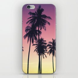 Palmtrees Sunset iPhone Skin