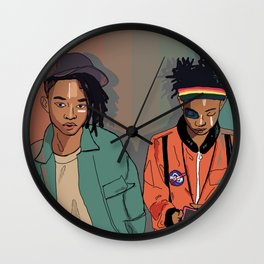 Willow and Jaden Wall Clock