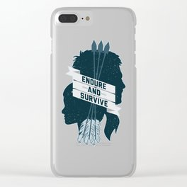 Endure and Survive Clear iPhone Case