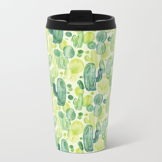 Cactus splash Metal Travel Mug