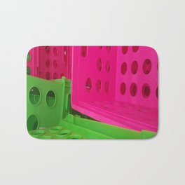 Crates in Pink and Green Bath Mat
