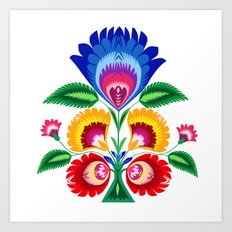 folk flower Art Print