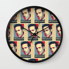 Baltar 'Messiah' design. Inspired by Battlestar Galactica. Wall Clock