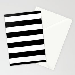Simply Stripes in Midnight Black Stationery Cards