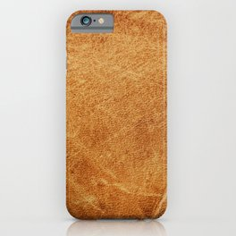 Brown leather texture vintage background.  iPhone Case