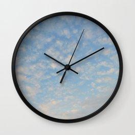 Blue Sky Photograph Wall Clock