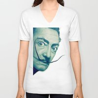 dali V-neck T-shirts featuring Dali by Fantastikat
