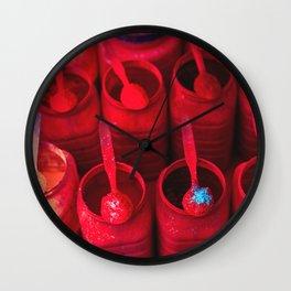 Red as Tikka Wall Clock
