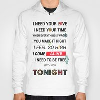 ellie goulding Hoodies featuring I Need Your Love ; Ellie Goulding feat. Calvin Harris by Wis Marvin