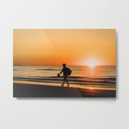 Sunset over Adriatic Sea Metal Print