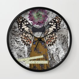 Design is Intelligence Made Visible Wall Clock