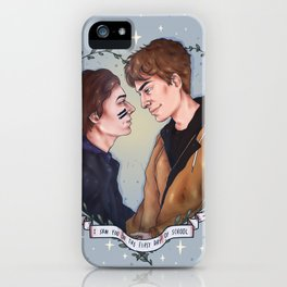I saw you on the first day of school iPhone Case