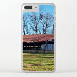Rustic Shed Clear iPhone Case