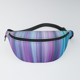 Abstract Purple and Teal Gradient Stripes Pattern Fanny Pack