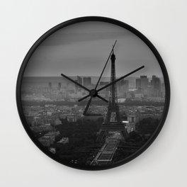 Black and White Eiffel Tower - Paris Wall Clock