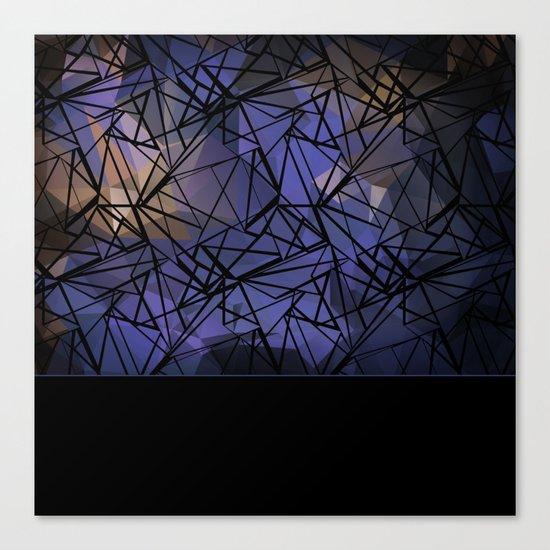 Polygon mesh . Blue . Canvas Print