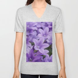 DREAMY - Purple flowers - Bellflower in the sun #1 Unisex V-Neck