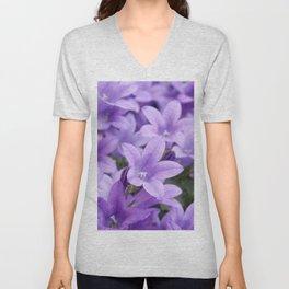 DREAMY - Purple flowers - Bellflower in the sun #1 Unisex V-Neck