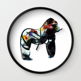 Abstract Gorilla Wall Clock