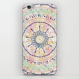 Whimsical watercolor tribal doddles mandala iPhone Skin