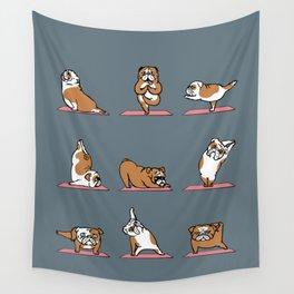 English Bulldog Yoga Wall Tapestry