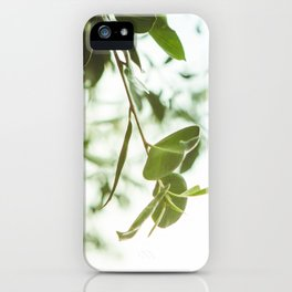 Nature photography green leaf I iPhone Case